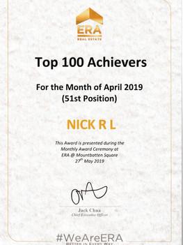 ERA TOP 100 Achievers