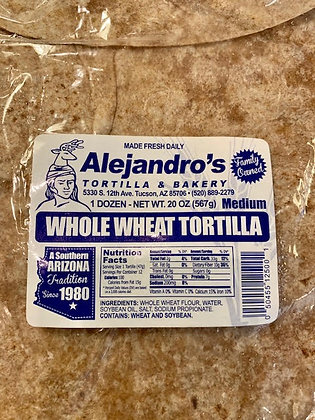 Alejandro's Whole Wheat Tortilla 12""