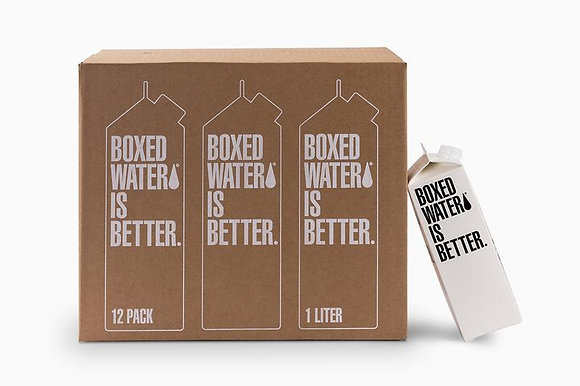 Box Water - Case of 12 (1L boxes)