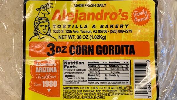 """Alejandro's Corn Tortilla 6"""""""
