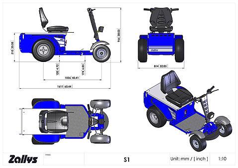 Zallys S1 wymiary wózka