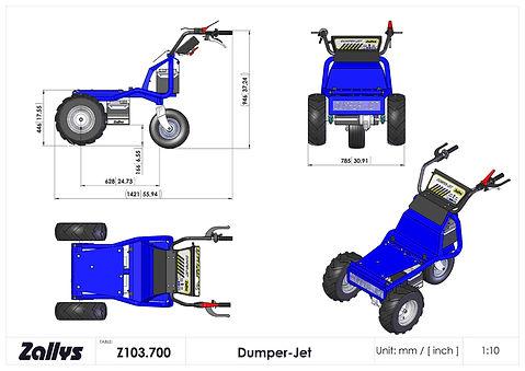 Zallys Dumper Jet wymiary wózka