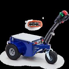 Zallys M9 zdalnie sterowany ciągnik do wózków sklepowy i bagażowych, idealny do użycia jako ciągnik wózków wewnątrz centrów handlowych, supermarketów i lotnisk.