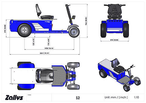 Zallys S2 wymiary wózka