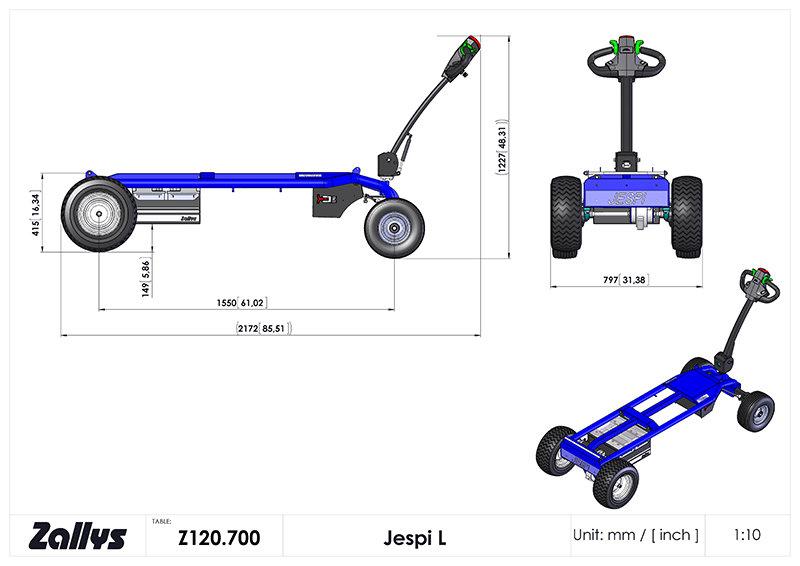 Dimension table for Zallys JESPI L