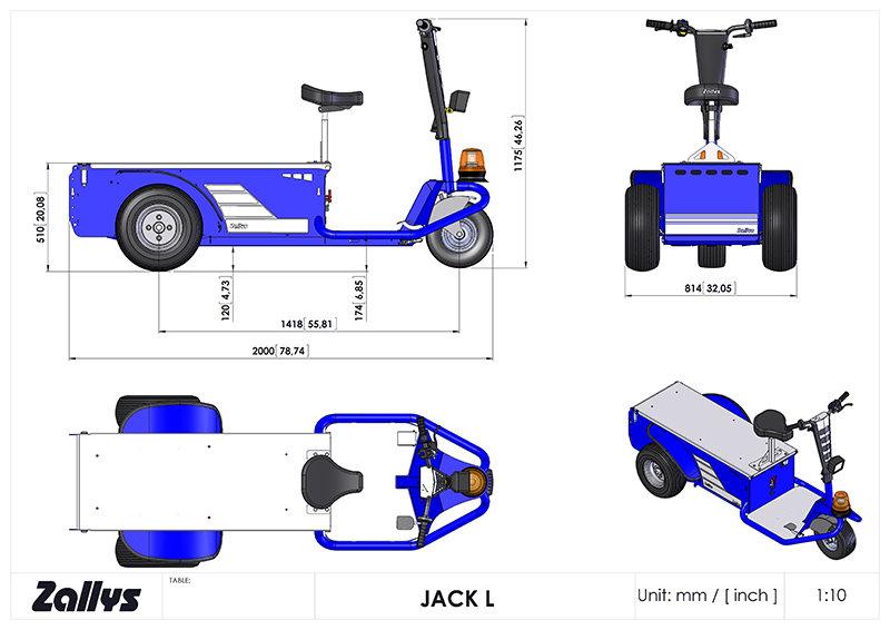 Dimension table for Zallys JACK L