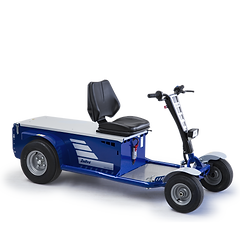 S2 to przemysłowy ciągnik elektryczny, używany do transportu materiałów i personelu w celu konserwacji i kontroli.