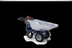 DUMPER JET to profesjonalny elektryczny ciągnik zaprojektowany do pracy z ładunkami do 500 kg (1100 funtów).