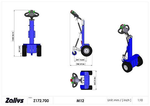 Zallys M12 wymiary wózka