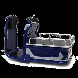 Zallys K5 - Elektryczny wózek do kompletacji zamówień z szeroką platformą, o ładowności do 500 kg (1100 funtów).