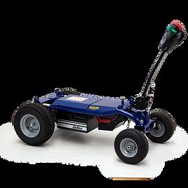 Elektryczny wózek platformowy do łatwego przewożenia wielu rodzajów ładunków do 600 kg. Wszelkiego rodzaju sprzęt i kontenery mogą być montowane w celu wielokrotnego użytku.