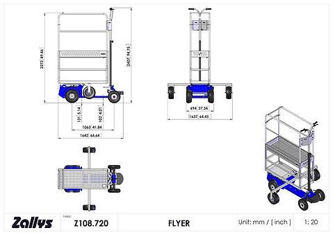 Zallys Flyer wymiary wózka