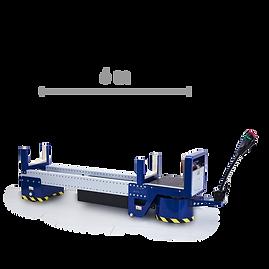 M8 - Elektryczny ciągnik, zaprojektowany do łatwego transportu rur i prętów o długości do 6 m (19,68 stóp) dzięki napędzie na przednie koło.