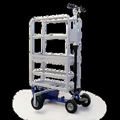 FLYER - czterokołowy pojazd elektryczny idealny do hodowli szklarni, wspomagający ciągły ruch w uprawach rzędowych.
