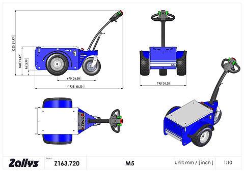 Zallys M5 wymiary wózka