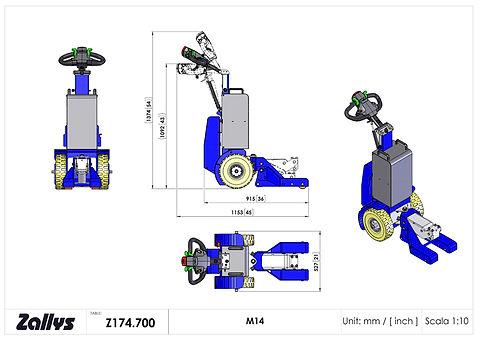 Zallys M14 wymiary wózka