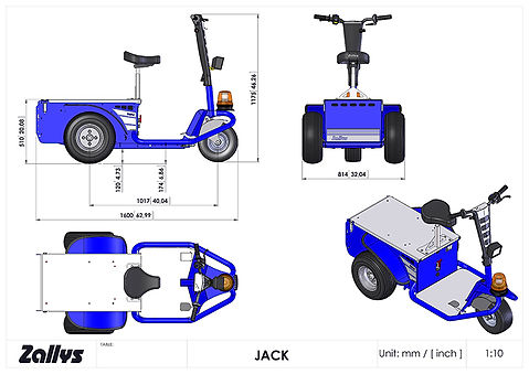 Zallys Jack wymiary wózka