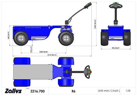 Zallys R6 wymiary wózka