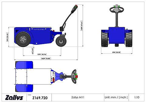 Zallys M11 wymiary wózka