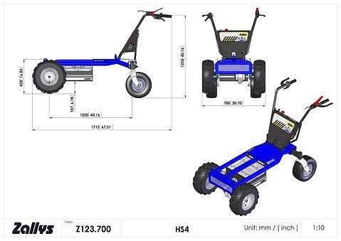 Zallys HS4 wymiary wózka