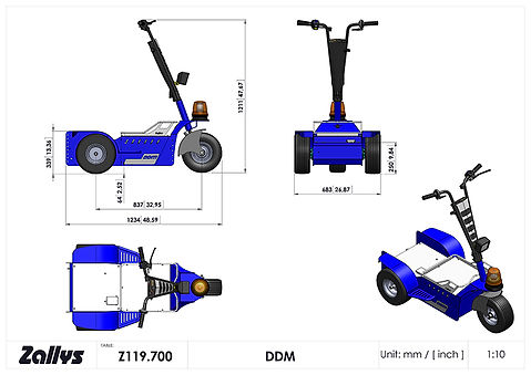 Zallys DDM wymiary wózka