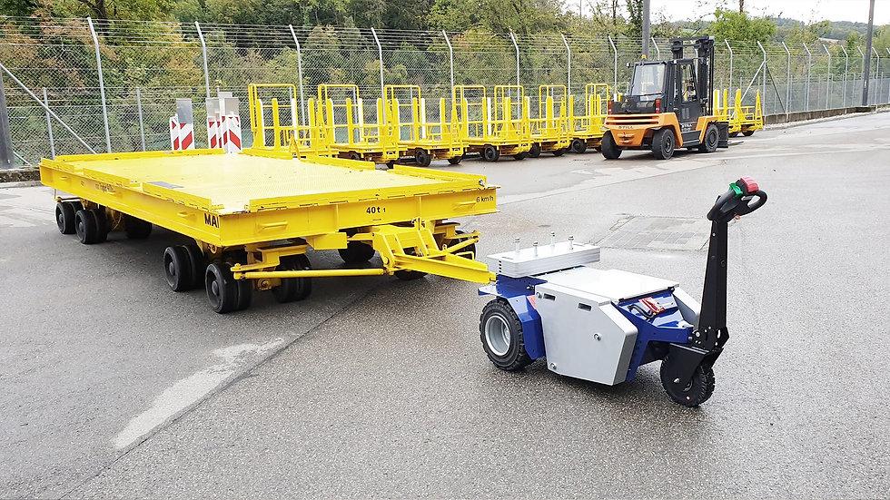 Zallys M11 rebocador de carga à bateria para o manuseio de reboques industriais