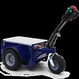 Ciągnik elektryczny Zallys M5 -  z udźwigiem do 4000 kg (8818 funtów). Mały zwrotny, niezawodny i bardzo wydajny, idealny do użytku wewnątrz i na zewnątrz budynków.
