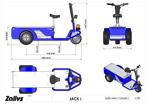 Zallys Jack L wymiary wózka