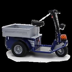 JACK - trzykołowy ciągnik z miejscem dla operatora, służący do transportu personelu i towarów, w celu konserwacji i kontroli.