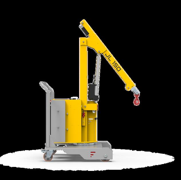 Counterbalanced crane JL 150- lateral view