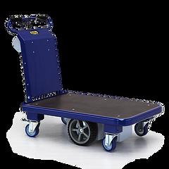 M15 - Elektryczny wózek platformowy, idealny do transportu ładunków nawet w wąskich przestrzeniach dzięki kompaktowym wymiarom i obrotowi o 360 °.