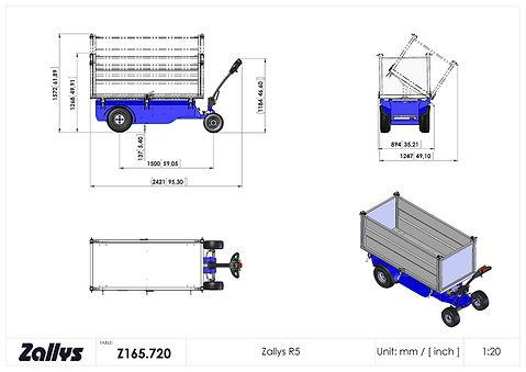 Zallys R5 wymiary wózka