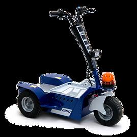 Zallys DDM to elektryczny ciągnik 3-kołowy, idealny do transportu personelu, drobnych towarów w celu prac konserwacyjnych i kontrolnych.