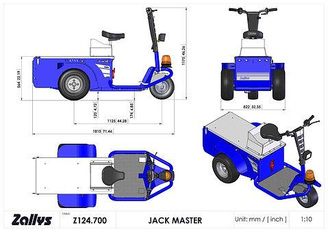 Zallys Jack Master wymiary wózka