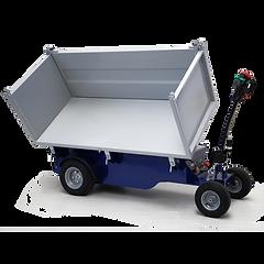 R5 to wózek elektryczny o ładowności do 750 kg (1365 funtów) na płaskim podłożu, wyposażony w hydrauliczny system przechylania.
