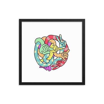 Peace & Shaka Knot - poster