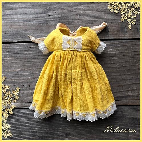 Pre-order ~ Melacacia Dress for Blythe ~ Sunflower Yellow