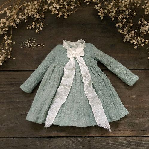 Melacacia Dress for Blythe ~ Hand Dyed Antique Aqua