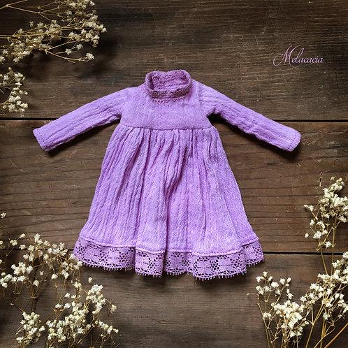 Melacacia Dress for Blythe ~ Hand Dyed Lavender
