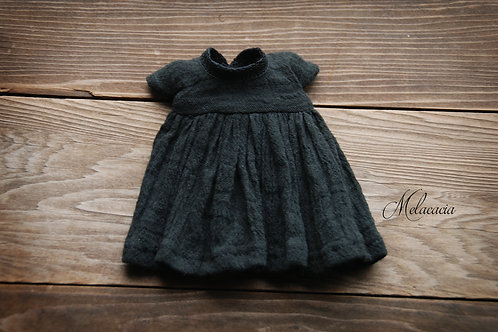 Melacacia Angel Dress for Blythe ~ Black with Short Sleeves