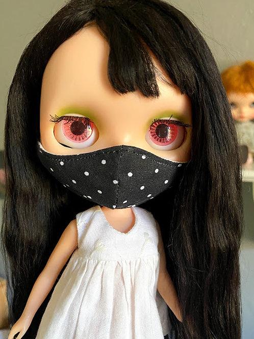1 Blythe Doll Mask ~ Polka Dots