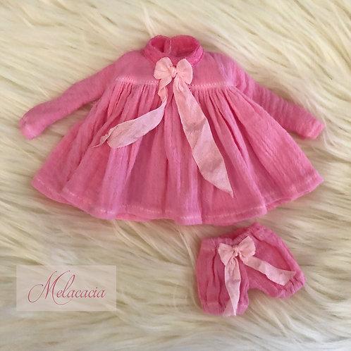 Big Sister Dress set for Blythe ~ Hand Dyed Pink