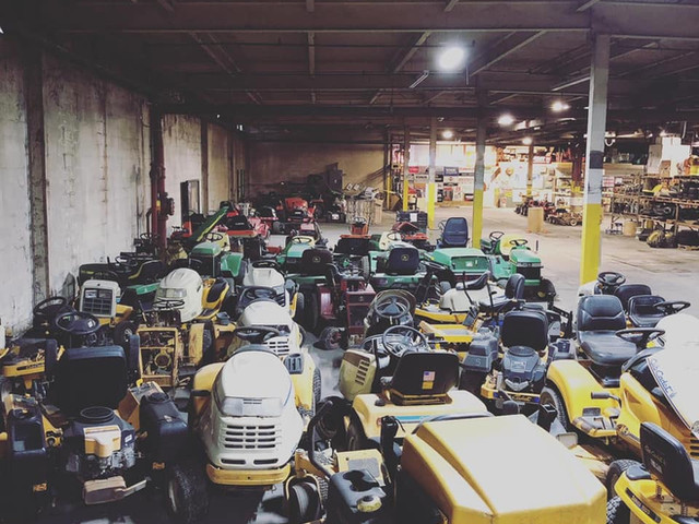 Over 80 Mowers Indoors for Parts