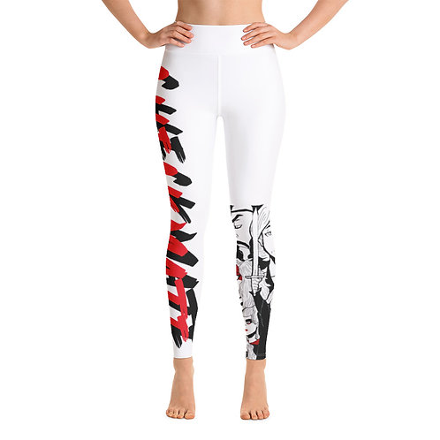 CHECKMATE COLLECTION: Yoga Leggings White - Group Print
