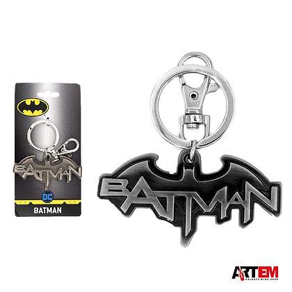 BATMAN logo con letras llavero Metálico MONOGRAM