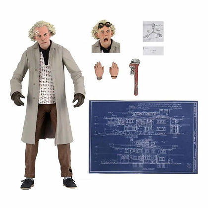 """DOC BROWN - Back to the Future - Ultimate NECA 7"""""""