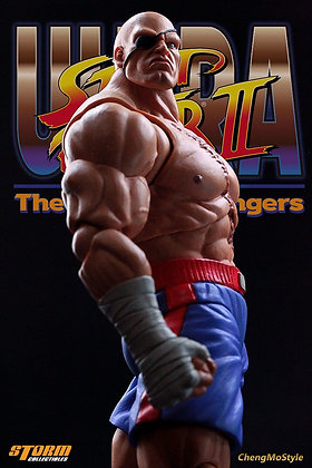 SAGAT Street Fighter II 1/12 Scale Figure STORM COLLECTIBLES