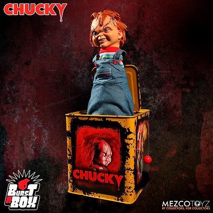 CHUCKY Burts a Box MEZCO TOYZ