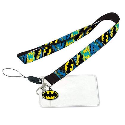 BATMAN Lanyard con llavero PVC DC Comics MONOGRAM