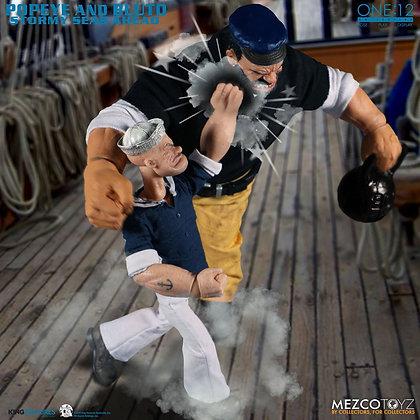 Popeye & Bluto: Stormy Seas Ahead Deluxe Box Set 2 PACK ONE:12 MEZCO TOYZ